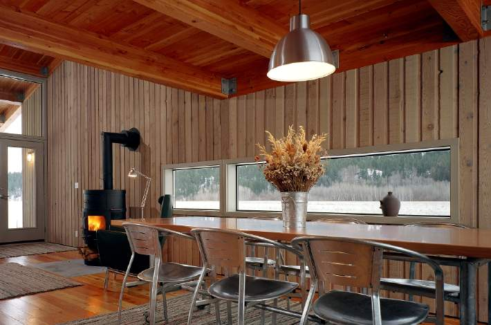 Methow Cabin by Eggleston Farkas Architects - Humble Homes